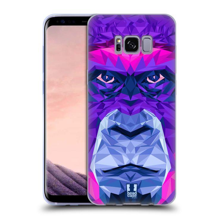 HEAD CASE silikonový obal na mobil Samsung Galaxy S8 vzor Geometrická zvířata 2 Orangutan