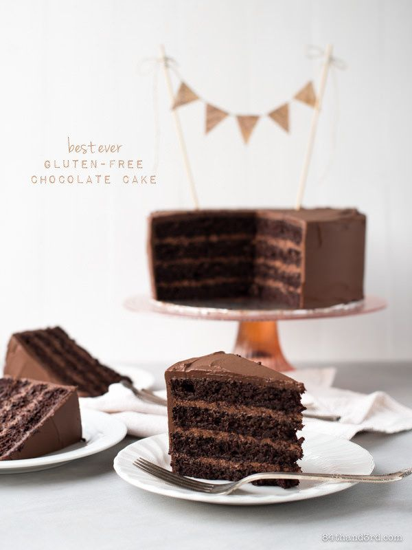 gluten-free chocolate cake, (dairy/nut free).