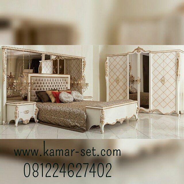 Set Kamar Tidur Mewah  #tempattidurmewah #tempattidurklasik #furnitureonline