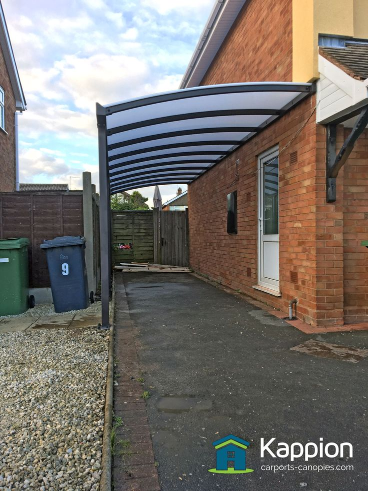 A half curved carport installed in Wolverhampton yesterday
