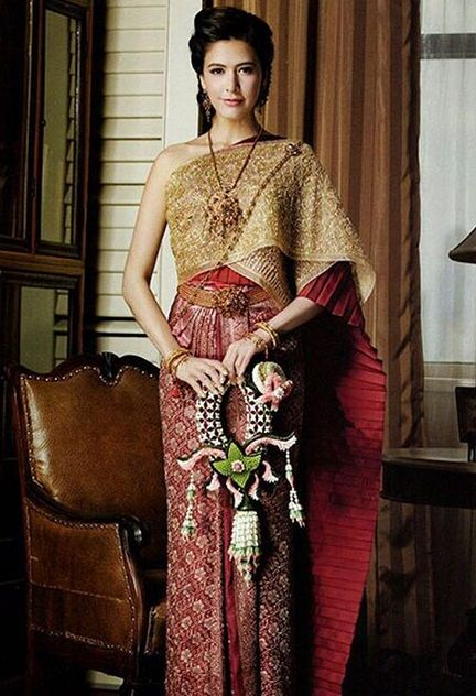 Sririta Jensen in Traditional Thai Dress