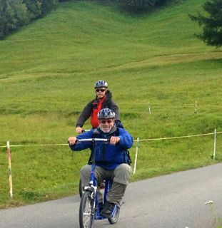 Jump on a Trotti bike and take the easy way back down from Brandalp... Fun for all ages!!!!