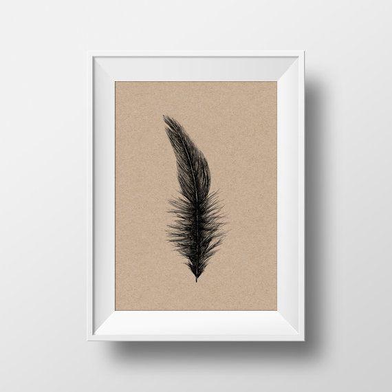 Feather Single - Illustration. Available on Kraft or White. Copyright: Rini Rizal Design. www.rinirizal.co.nz