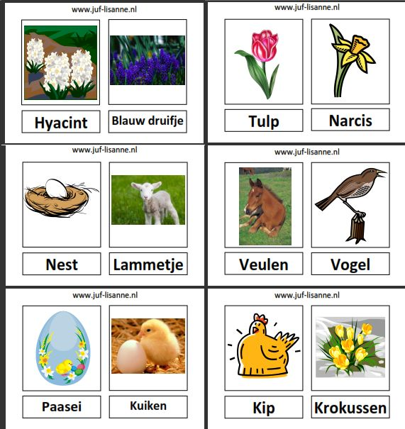 www.juf-lisanne.nl Woordkaarten bij thema lente