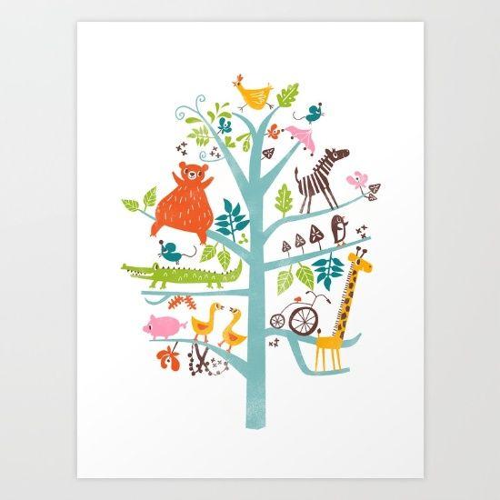 tree Art Print by Joanne Liu   Society6