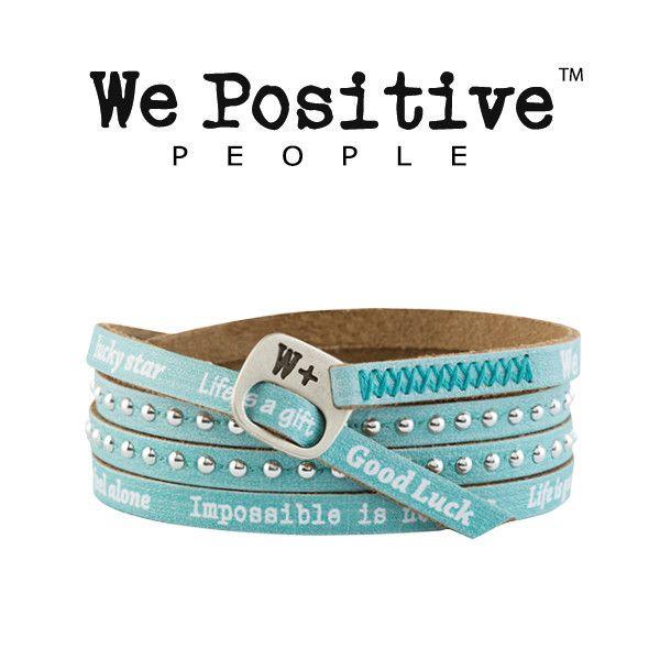 Bracciale We Positive Acqua Collezione Holiday Pelle HD016