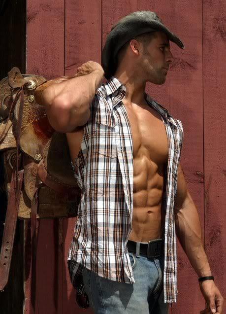 sexy half naked cowboy