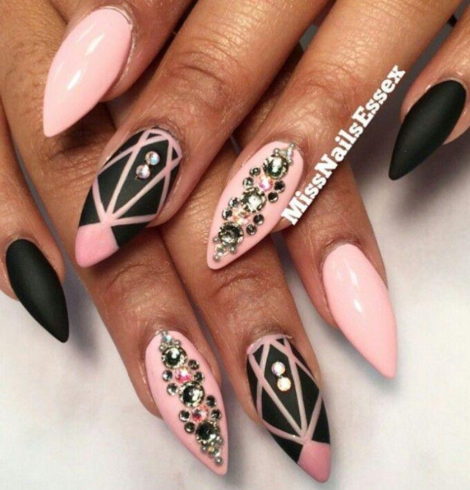Black White Pink Nail Art Designs: Best 25+ Pink Black Nails Ideas On Pinterest