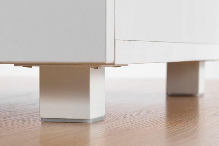 Adjustable feet for Flatpax Kids furniture. #kidsfurniture