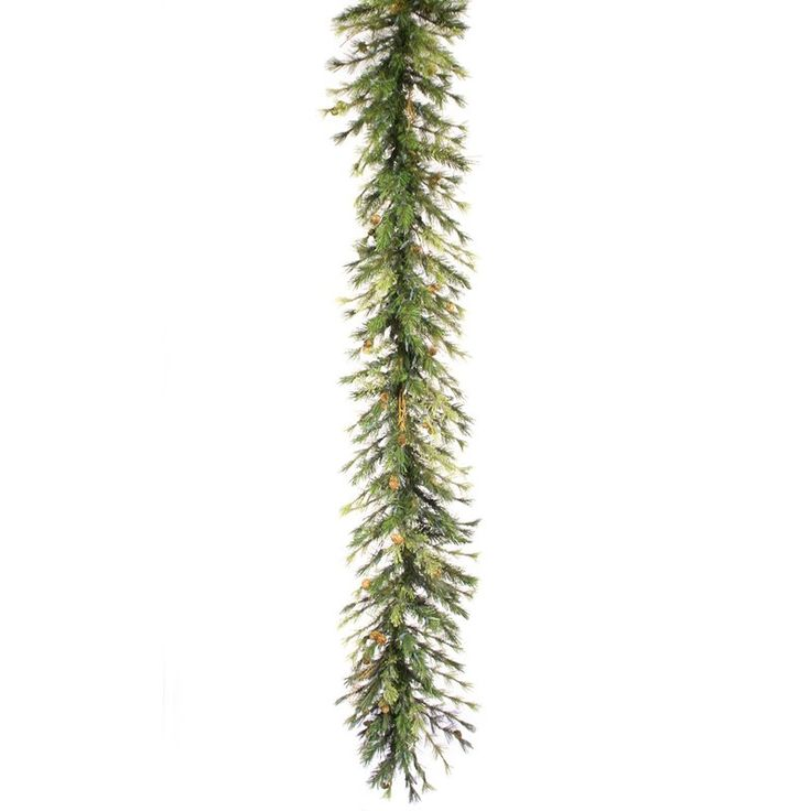 16 in. x 9 ft. Mixed Country Pine Pre-lit Garland - A801717