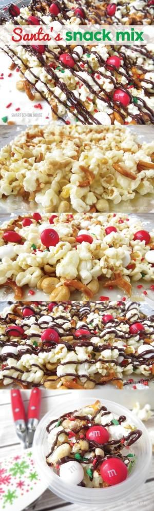 Santa's Snack Mix recipe - A fun christmas idea that everybody LOVED!! Easy to make. by esther