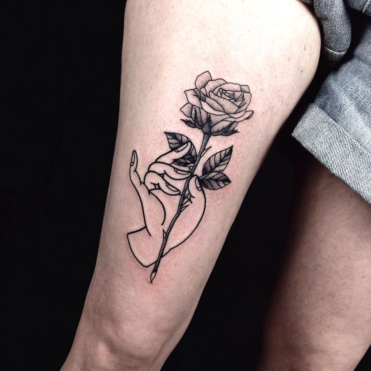 Upper Thigh Roses And Quote Tattoo: 237 Best Flowers Tattoo Images On Pinterest