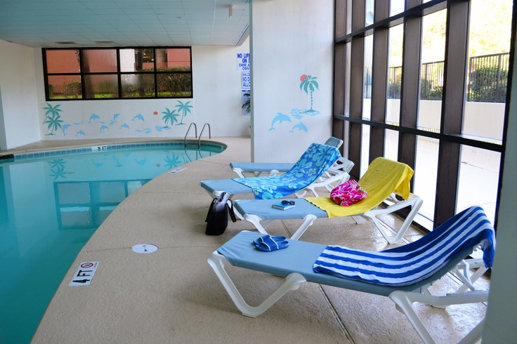 Don't let a rainy day spoil your vacation! We have a fun indoor pool area at our Myrtle Beach hotel.