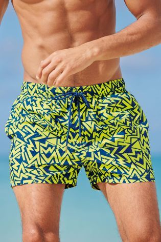 Lime Graphic Swim Shorts from Next