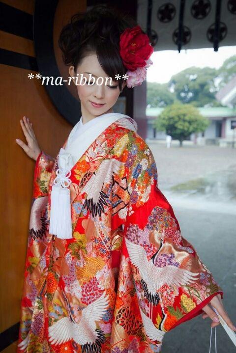前撮り@華雅苑 ③ ~色打掛~|ma-ribbonのブログ