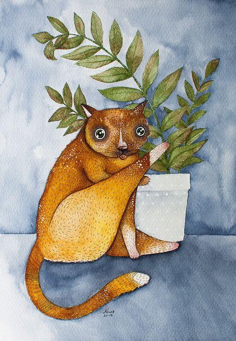 Рыжий кот. Автор: Nora