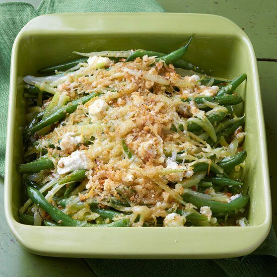 Cheesy Green Beans and FennelGardens Ideas, Green Beans Casseroles, Side Dishes, Fennel, Thanksgiving Side, Cheesy Green, Maine Dishes, Thanksgiving Recipe, Greenbeans