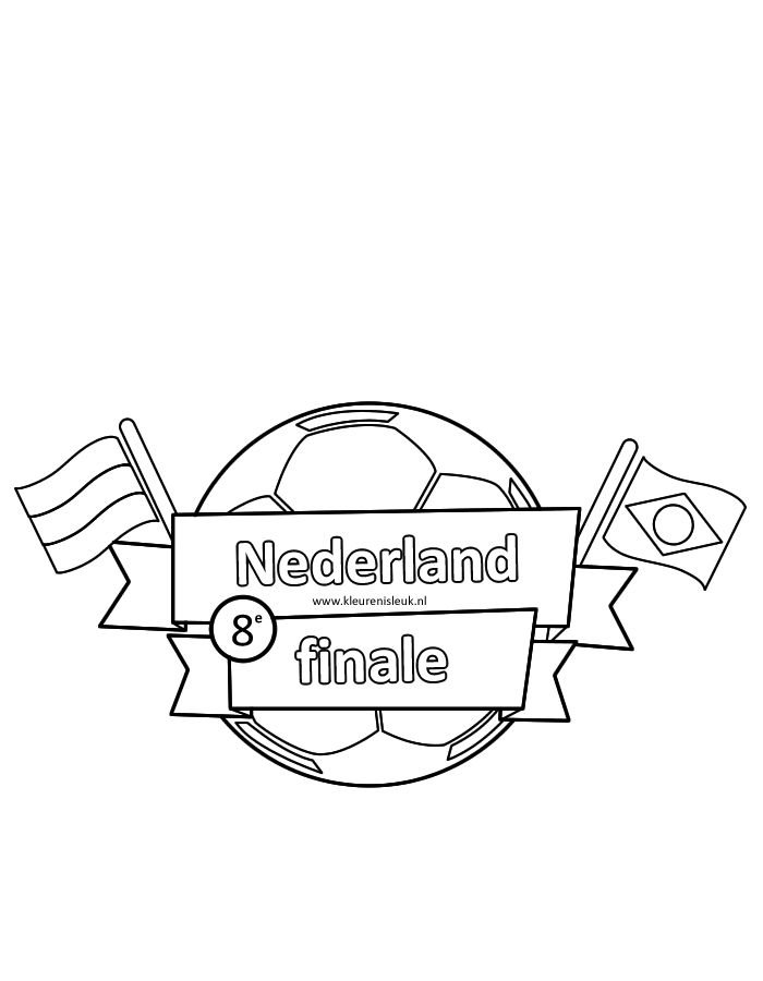 wk2014 kleurplaat nl finale 8 voetbal kleurplaten
