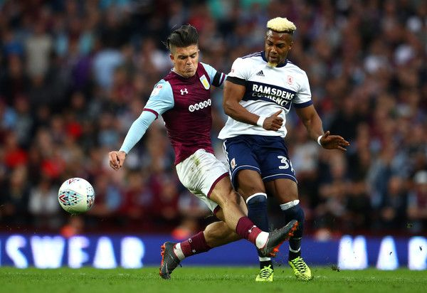 Adama Traore Photos Photos Aston Villa Vs Middlesbrough Sky Bet Championship Play Off Semi Final Second Leg Middlesbrough Jack Grealish Aston Villa