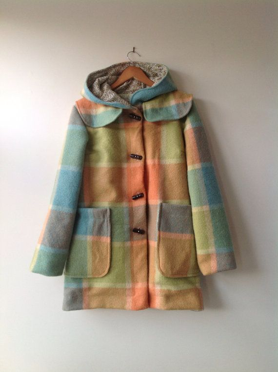 Lumberjacket | Small Forest Shop in etsy | Brilliant upcycled wool blanket | Maybe just find a blanket and make my own?