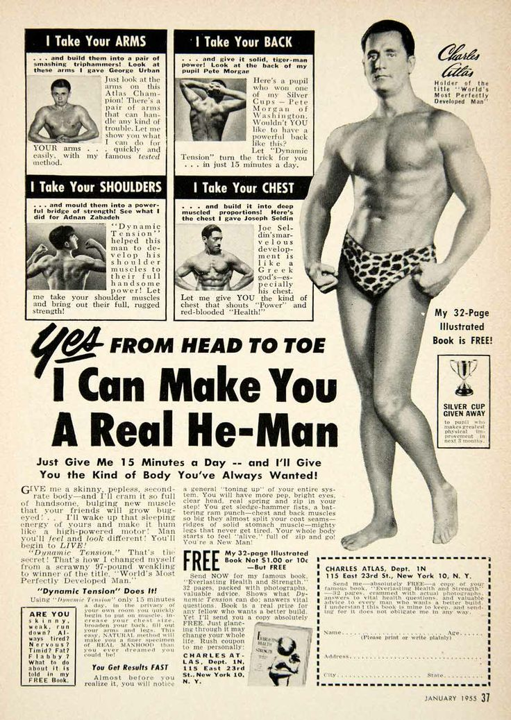 and sold by bodybuilding Charles Atlas #bodybuilding #vintage #HE-MAN