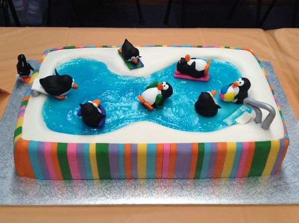 Penguins in a Swimming Pool - Craftsy Member Cake