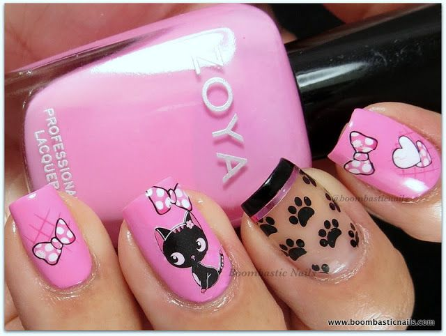 Zoya Shelby, Water Decals & paw print image from plate DRK-A