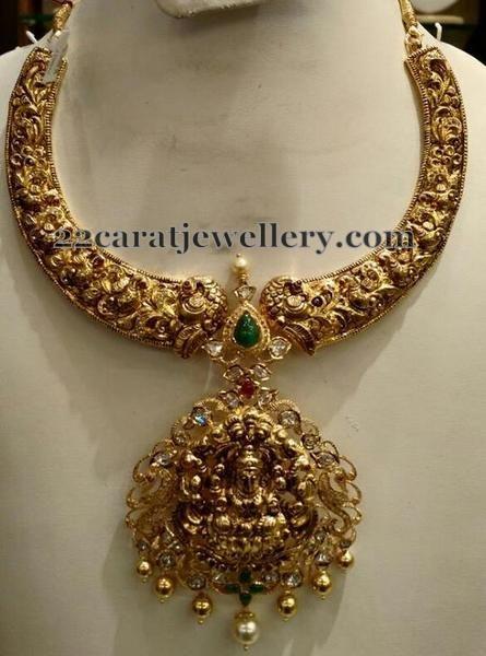Jewellery Designs: Filigree Work Nakshi Necklace