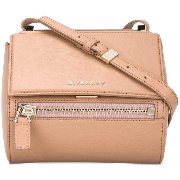 Givenchy mini 'Pandora Box' shoulder bag (114.180 RUB) ❤ liked on Polyvore featuring bags, handbags, shoulder bags, nude, pink handbags, nude purses, red shoulder bag, givenchy purse and snap purse