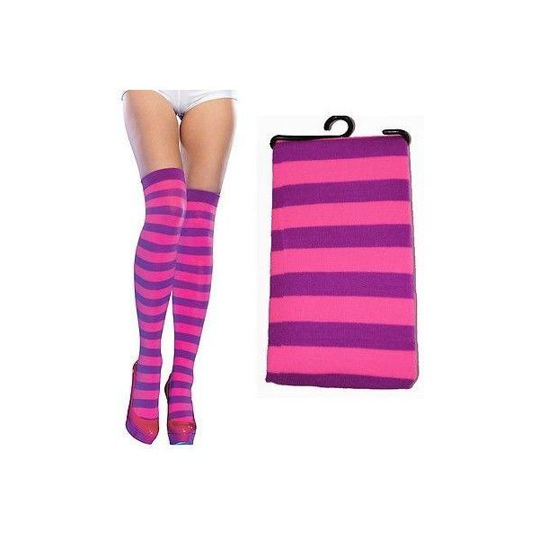 pink purple striped tights ❤ liked on Polyvore featuring intimates, hosiery, tights, pink hosiery, striped stockings, striped pantyhose, purple pantyhose and pink striped tights