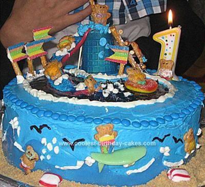 Cool homemade swimming pool birthday cake birthday cakes - Swimming pool birthday cake pictures ...