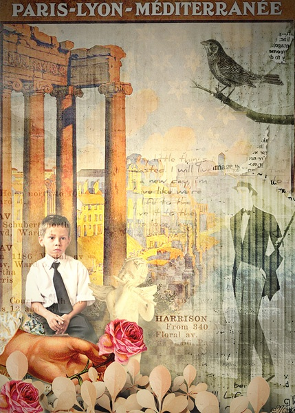 ATC - Romantique Background by Rucola Designs
