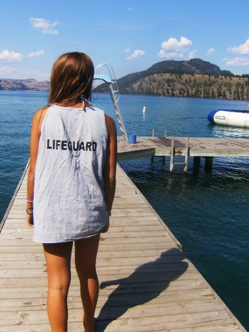 be a lifeguard for a summer