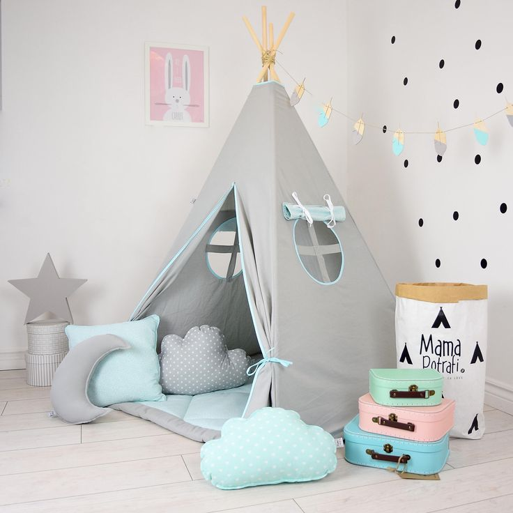 Kids teepee, Playhouse, Play tent, Teepee, Kids gift, Baby gift, Childrens gift, Boys play tent, Girls playhouse -North Wind[with pillows] by MamaPotrafi on Etsy