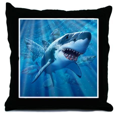 Gavin Shark Pillow From Cafe Press