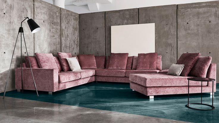 AMPIO Sectional With Oversized Design For Extreme Comfort Featuring Two  Layers Of Feather/down Filled Back Cushions Made To Order In Hundreds Of  Fabrics.