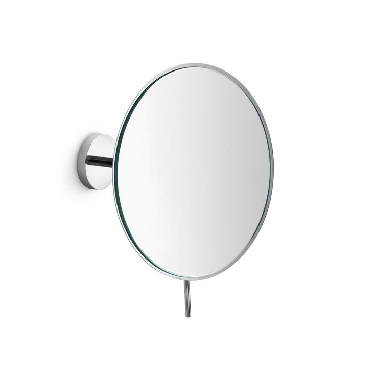 Stunning Designer High End Modern Circular Wall Mounted Bathroom Magnifying Mirror In Chrome With Adjustable