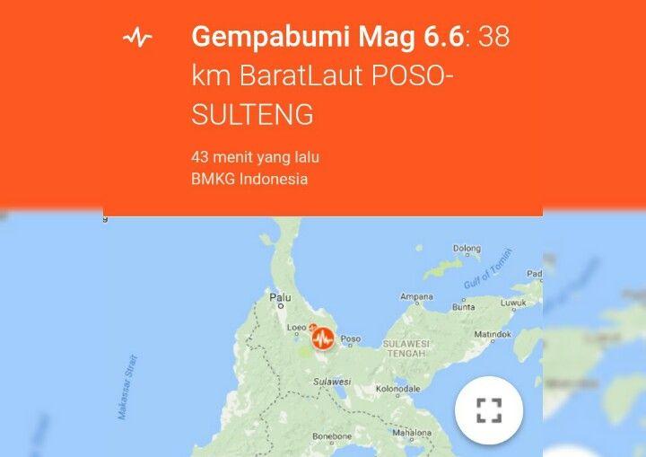 SUARALIDIK.COM, POSO – Gempa Bumi kembali terjadi di pulau sulawesi, kali ini terjadi Di kota poso, sulawesi tengah kekuatan 6,6 skala Richter.  Sebagaimana di lansir dari situs resmi Badan Meteorologi, Klimatologi, dan Geofisika (BMKG), Senin (29/05/2017), gempa itu terjadi pada pukul...