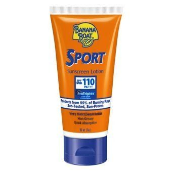 Banana Boat Sport Sunscreen Lotion SPF110 PA+++ by Banana Boat. $77.00. Size  90 ml.. Banana Boat Sport Sunscreen Lotion SPF110 PA+++. Because your skin requires special care. Despite the hot sun. To burn your skin beautiful. The sun scorched Banana Boat Sport Sunscreen Lotion - SPF110 PA + + + 90ml lotion is to protect your skin. Always to retain moisture. Cleaning the hot sun and I have.Property  Radiation, which is harmful to the skin.   If you want to protec...