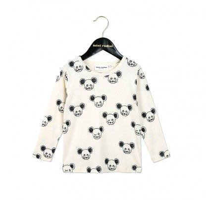 Mini Rodini's Black Mouse LS Tee, available from Baby Dino, www.babydino.com.au