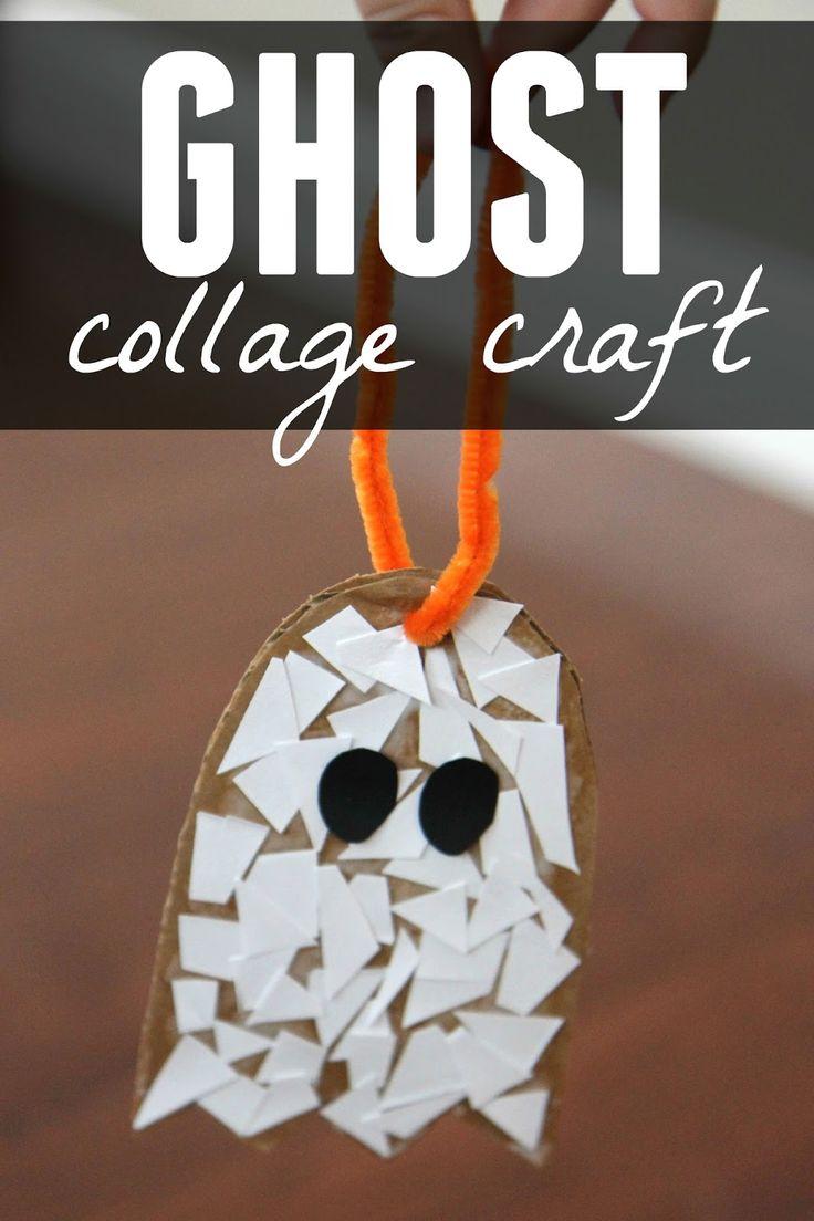 582 best halloween crafts activities images on pinterest ghost paper scrap craft for preschoolers jeuxipadfo Choice Image