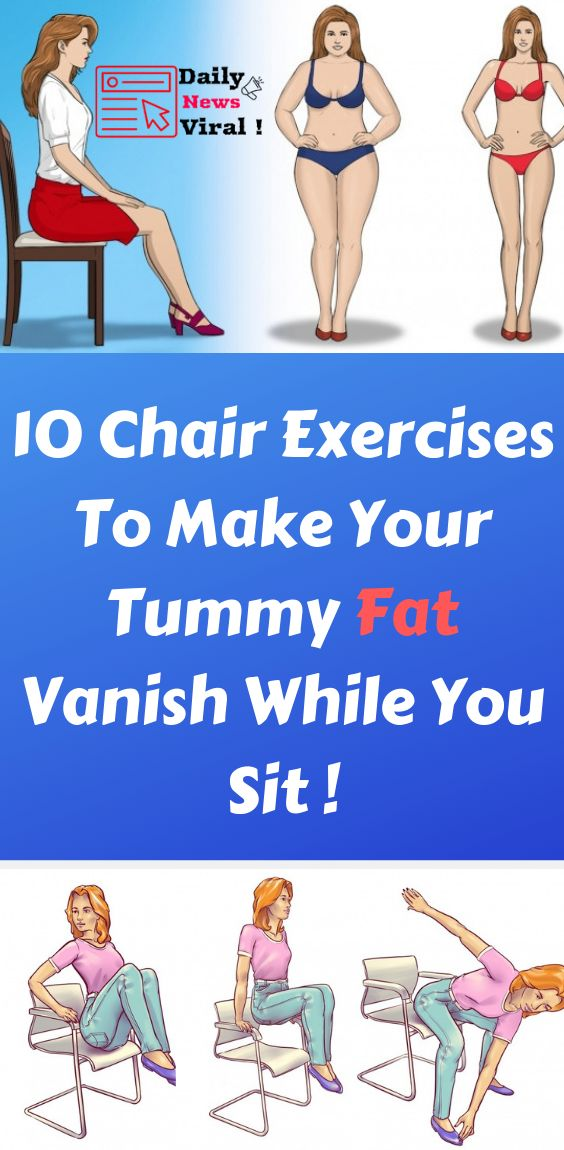 10 Chair Exercises to Make Your Tummy Fat Vanish While You Sit ! #exercises