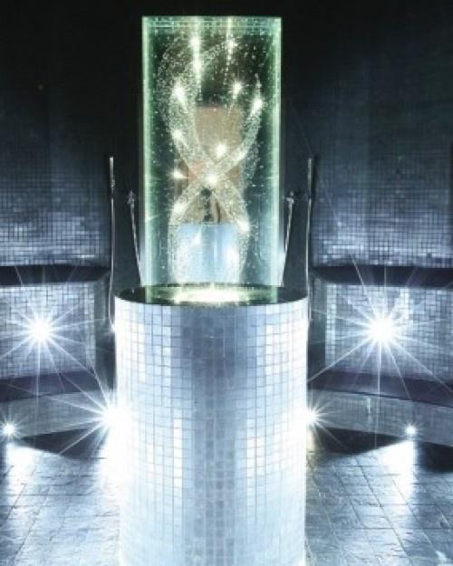 sparkling in the Crystal steam room at Sparkling Hill Resort - Vernon, Canada #Jetsetter #JSSpa
