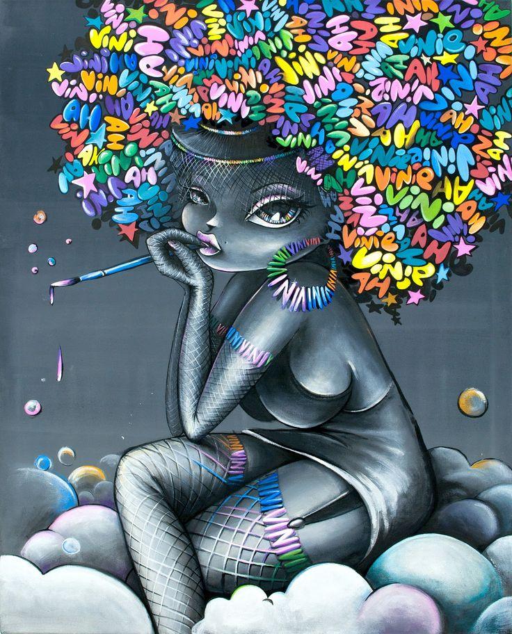 Une Street Artiste française crée de magnifiques fresques colorées