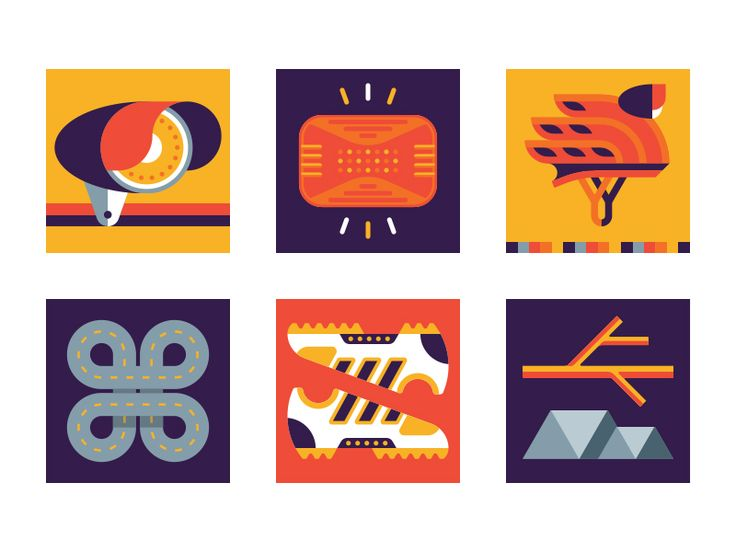 Series of spot illustrations for the Beginner's Guide in Bicycling Magazine.
