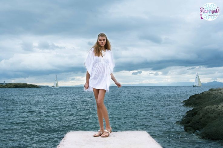 Tunic Skiathos・Salt in the air Sand in my hair lookbook