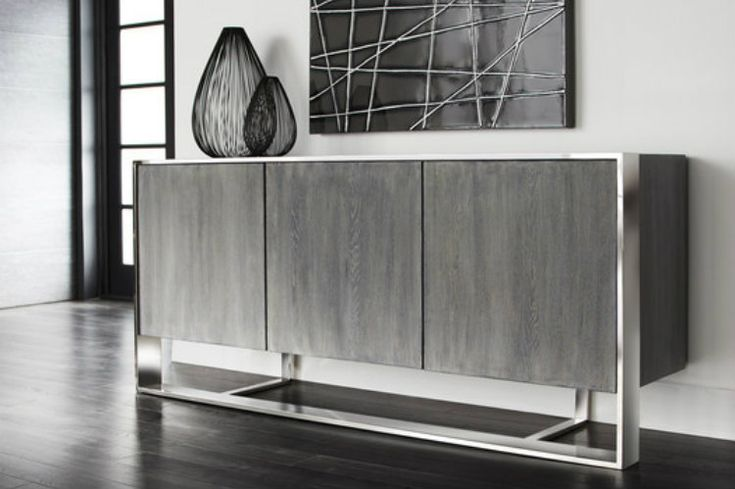 Silver Buffets And Cabinets For LA Homes