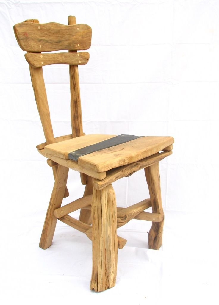 Funky Rustic Oak Dining Room Chair