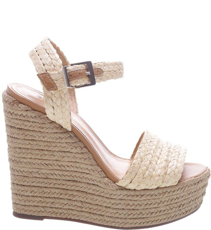 36fec165a Sandália Anabela Trança Natural | Sandálias finas em 2019 | Shoes ...