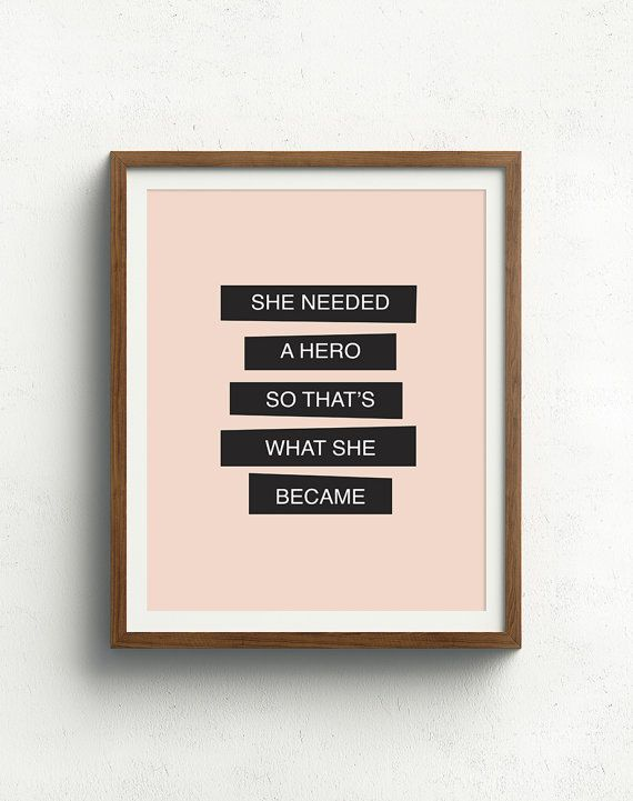 Feminismus-Zitat  sie brauchte eine Hero  inspirierende by bonmotprints | Etsy